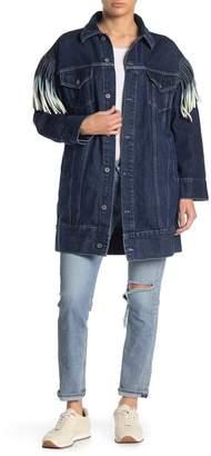 Levi's Oversized Fringe Jean Jacket