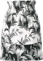 Sonia Rykiel palm print mini skirt