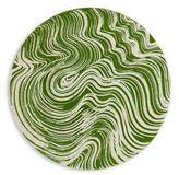 Oscar de la Renta Marbelized Earthenware Charger Plate