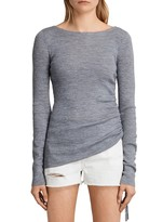 AllSaints Vana Ribbed Merino Wool Top