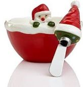 Martha Stewart Collection Holiday Santa Dip Bowl With Spreader