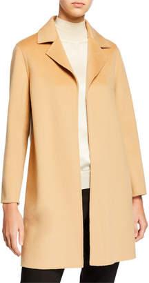 Neiman Marcus Double Face A-Line Cashmere Coat w/ Notch Collar