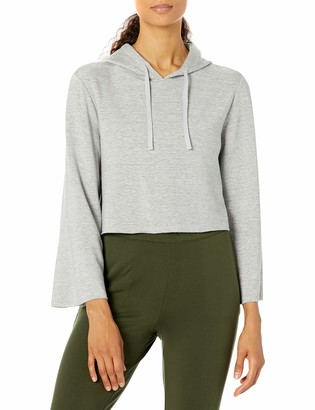 Core 10 Amazon Brand Women's Cloud Soft Cropped Bell Sleeve Relaxed Fit Yoga Sweatshirt