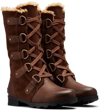 Sorel Emelie Faux Shearling Lined Waterproof Lace-Up Boot