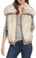 BB Dakota Women's Collared Faux Fur Vest