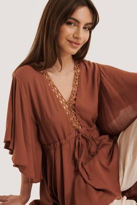 Trendyol Ribbon Lace Detailed Dress