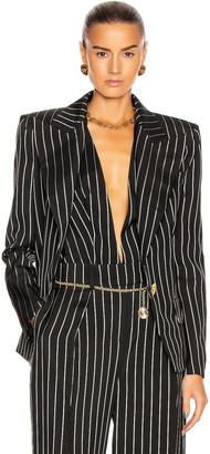 Alexandre Vauthier Pin Stripe Blazer in Black | FWRD