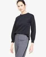 Ann Taylor Lantern Sleeve Sweatshirt