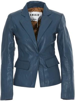 S.W.O.R.D. Leather Blazer Jacket