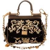 Dolce & Gabbana Sicily velvet clutch bag