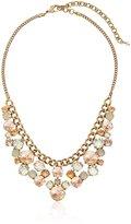 "Sorrelli Desert Sun"" Round Crystal Cluster Bib Necklace, 16.5"" + 4""extender"