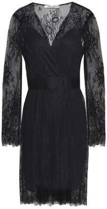 Diane von Furstenberg Satin-trimmed Lace Dress