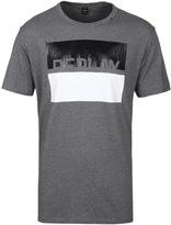 Replay Grey Marl Monochrome Print T-shirt