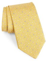 Salvatore Ferragamo Men's Gancini & Flag Print Silk Tie