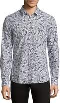 HUGO BOSS Men's Diamond Patterned Shirt