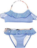 Burberry striped bikini - kids - Polyamide/Polyester/Spandex/Elastane - 6 yrs