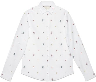 Gucci Symbols Oxford cotton Duke shirt