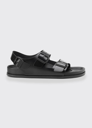 Birkenstock Milano Double Buckle Leather Sandals