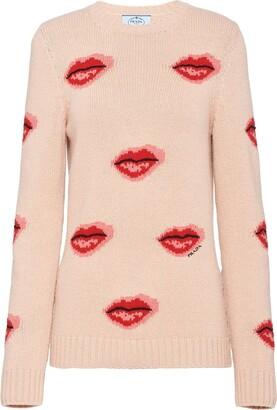 Prada Lips Print Jumper