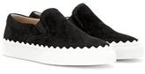 Chloé Ivy Suede Slip-on Sneakers