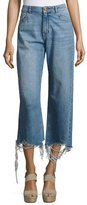 DL1961 DL 1961 Hepburn High-Rise Wide-Leg Jeans with Shredded Hem, Slate