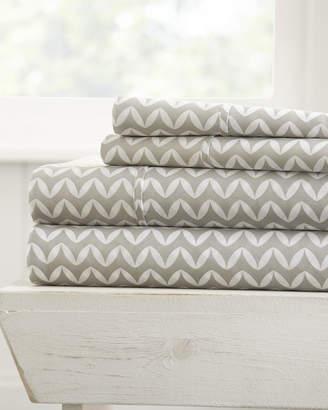 IENJOY HOME Puffed Chevron 4-Piece Bed Sheet Set, King