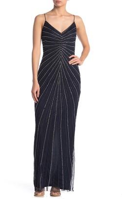 Marina Illusion Sleeveless Long Dress