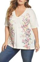 Lucky Brand V-Neck Floral Tee