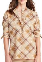 Lauren Ralph Lauren Plaid Crepe Tunic