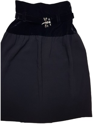 Jean Louis Scherrer Jean-louis Scherrer Black Velvet Skirt for Women Vintage