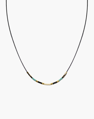Madewell Cast of Stones Beaded Intention Necklace in Turquoise Multicolor