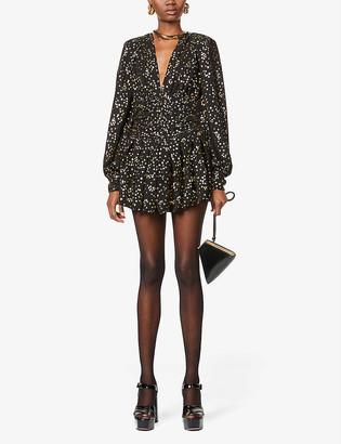 ATTICO Star-print chiffon mini dress