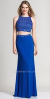Dave and Johnny Pearl Encrusted Bodice Two Piece Prom Dress