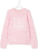 Kenzo teen logo print sweatshirt