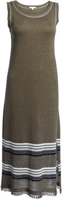 LISA TODD Riviera Sleeveless Dress w/ Border Stripe