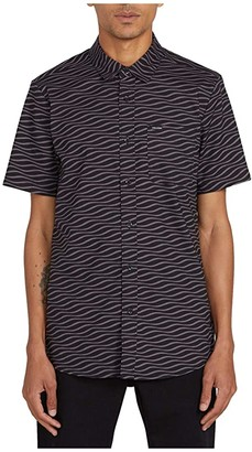 Volcom Levstone Vibes Short Sleeve (Dark Charcoal) Men's Short Sleeve Button Up