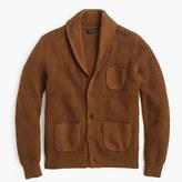 J.Crew Cotton textured-stitch cardigan sweater