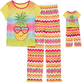 Asstd National Brand For Me and My Dream Doll 4-pc. Short-Sleeve Pineapple Pajama Set - Girls 7-16