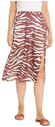Paige Larsa Skirt (Cherrywood/Cream) Women's Skirt