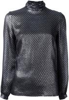Vanessa Seward metallic roll neck top - women - Silk/Metallized Polyester - 34