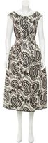 Marc Jacobs Paisley Evening Dress