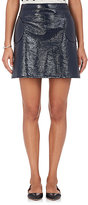 Lisa Perry Women's Cotton-Blend Vinyl Miniskirt