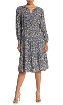 Daniel Rainn Dr2 By Mixed Print Tiered Midi Dress (Petite)