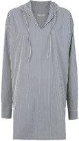 Egrey striped hood tunic
