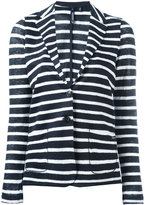 Woolrich striped blazer - women - Linen/Flax - M
