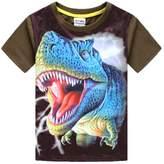 Frogwill Toddler Boys Tyrannosaurus Short Sleeve 3D T-shirt 5/6Y