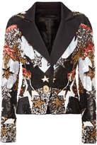 Elie Saab Embellished Satin Blazer - Black