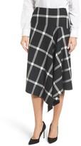BOSS Women's Vilrea Windowpane Check A-Line Skirt