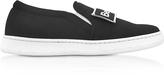 Joshua Sanders Naomi Black Fabric Slip-on Sneaker