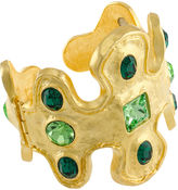 Kenneth Jay Lane FINE JEWELRY KJL by 22K Gold-Plated Crystal Cuff